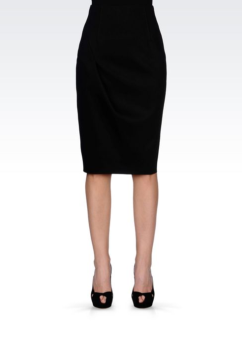 PENCIL SKIRT IN NEOPRENE: Knee length skirts Women by Armani - 3