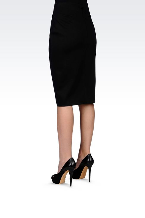 PENCIL SKIRT IN NEOPRENE: Knee length skirts Women by Armani - 4