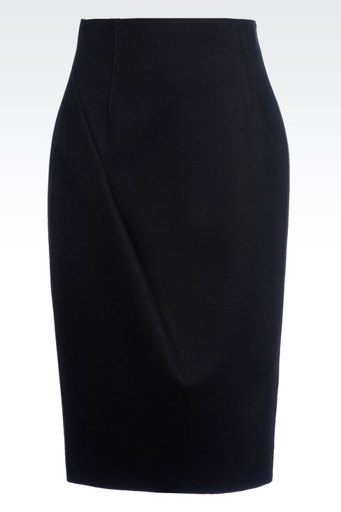 PENCIL SKIRT IN NEOPRENE: Knee length skirts Women by Armani - 1