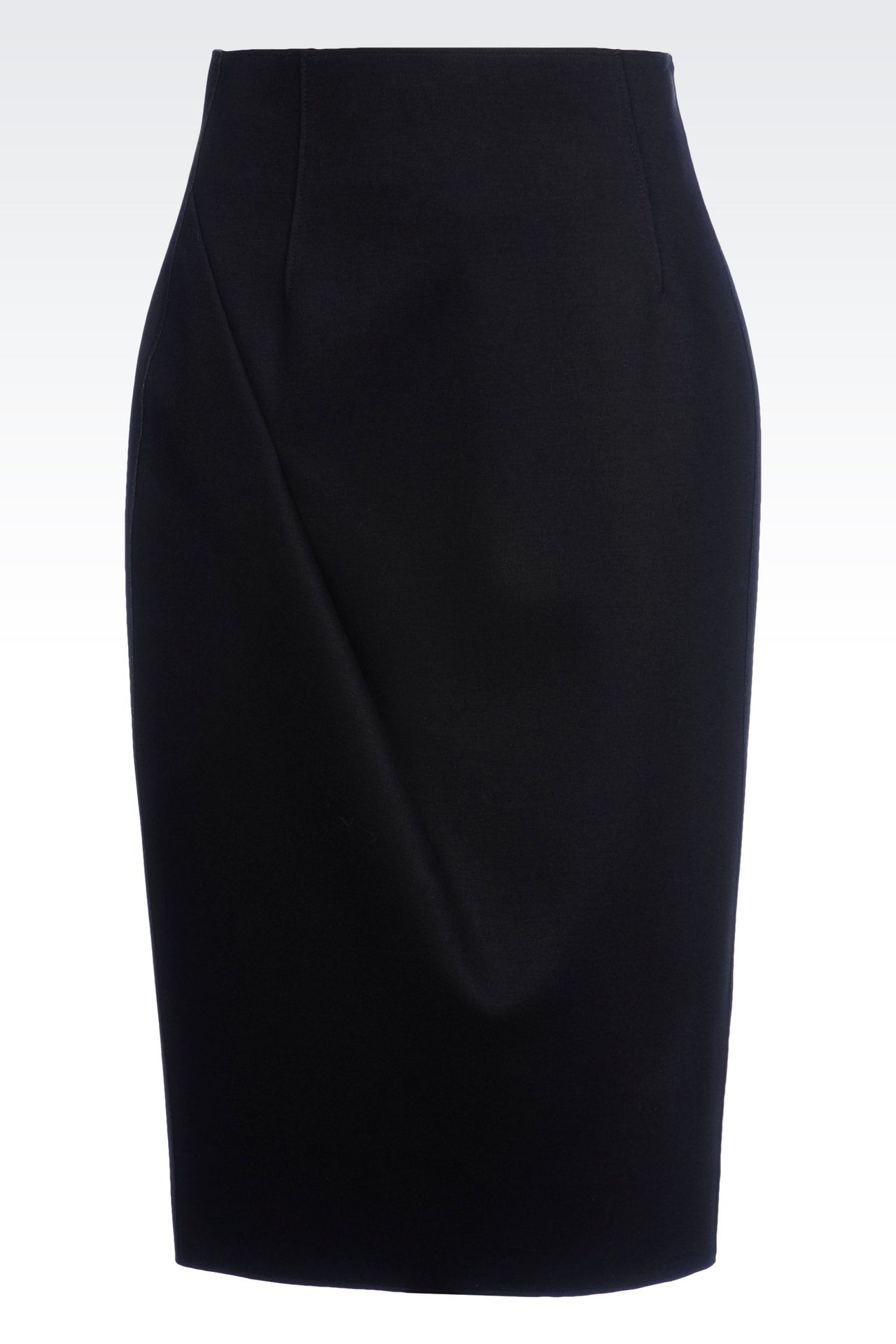PENCIL SKIRT IN NEOPRENE: Knee length skirts Women by Armani - 0