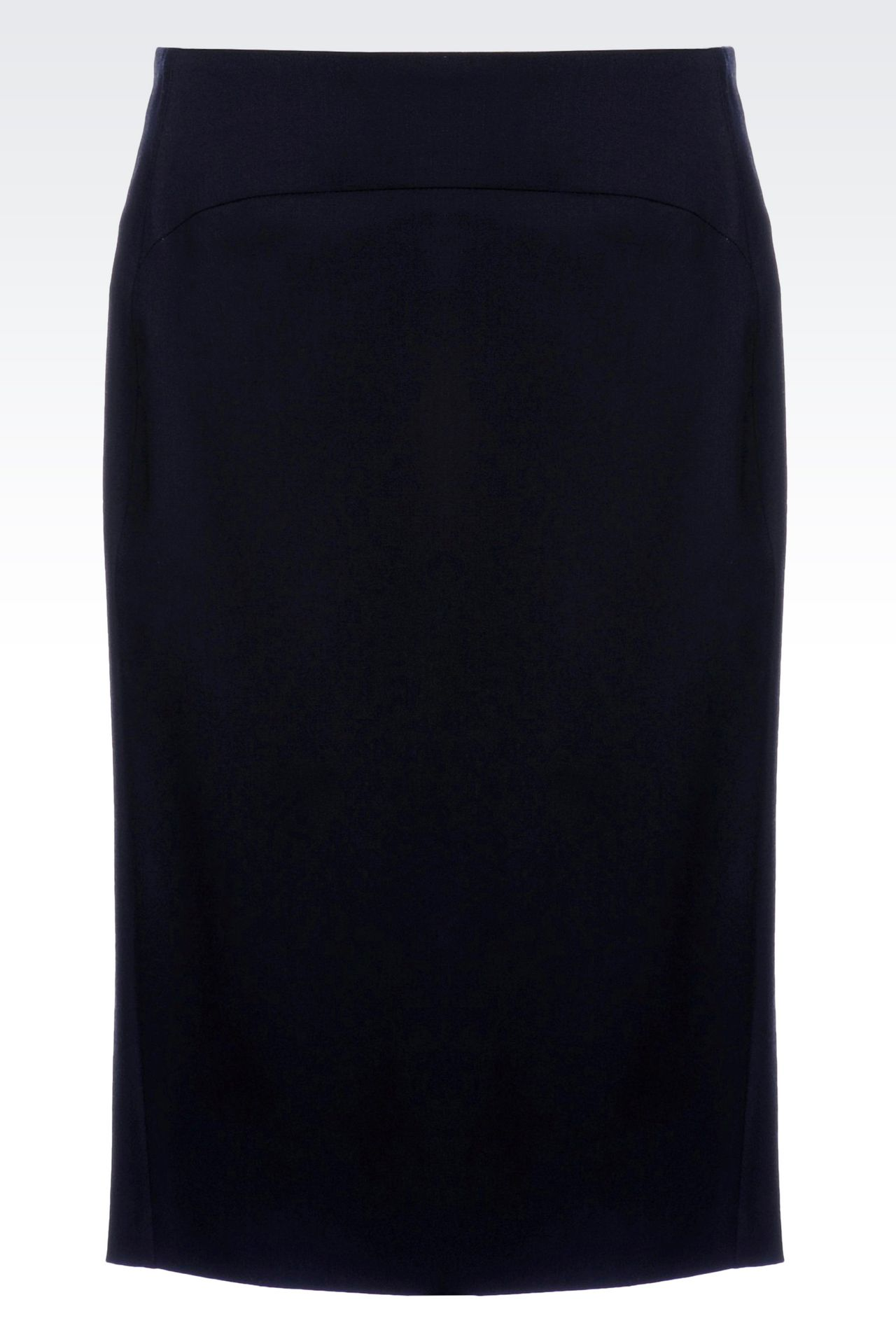 PENCIL SKIRT IN STRETCH WOOL: Knee length skirts Women by Armani - 0