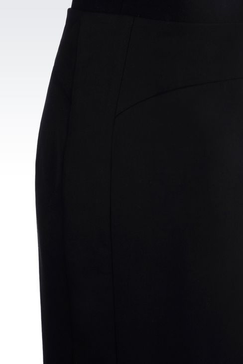 PENCIL SKIRT IN STRETCH WOOL: Knee length skirts Women by Armani - 5