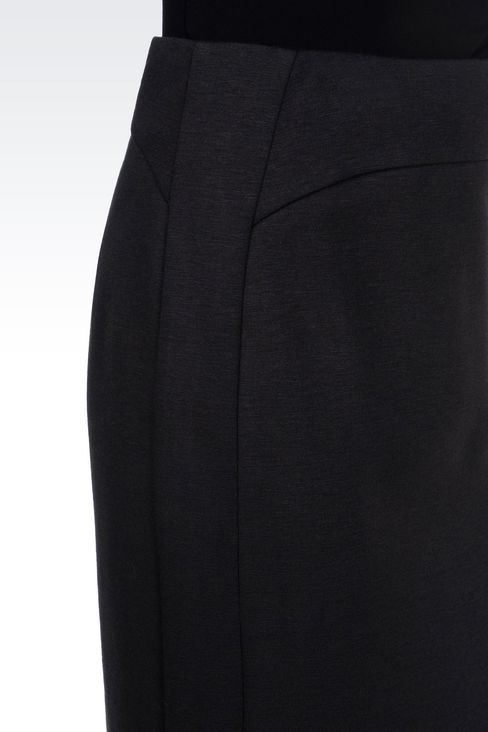 PENCIL SKIRT IN JERSEY: Knee length skirts Women by Armani - 5