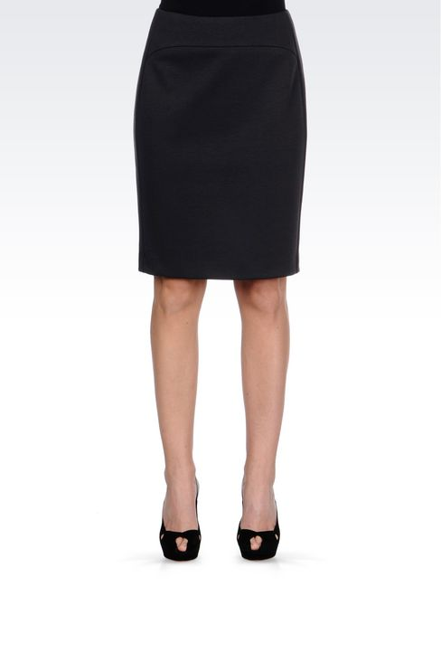 PENCIL SKIRT IN JERSEY: Knee length skirts Women by Armani - 3