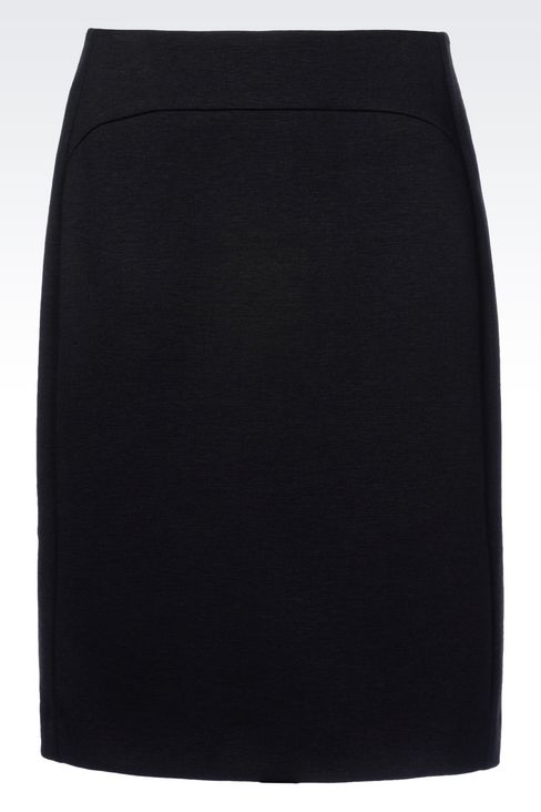 PENCIL SKIRT IN JERSEY: Knee length skirts Women by Armani - 1