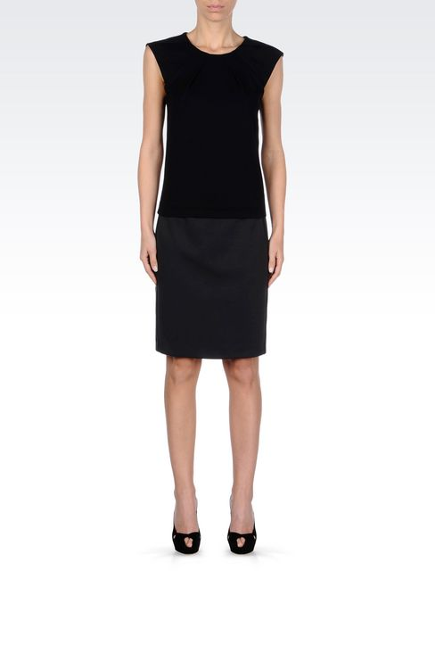PENCIL SKIRT IN JERSEY: Knee length skirts Women by Armani - 2