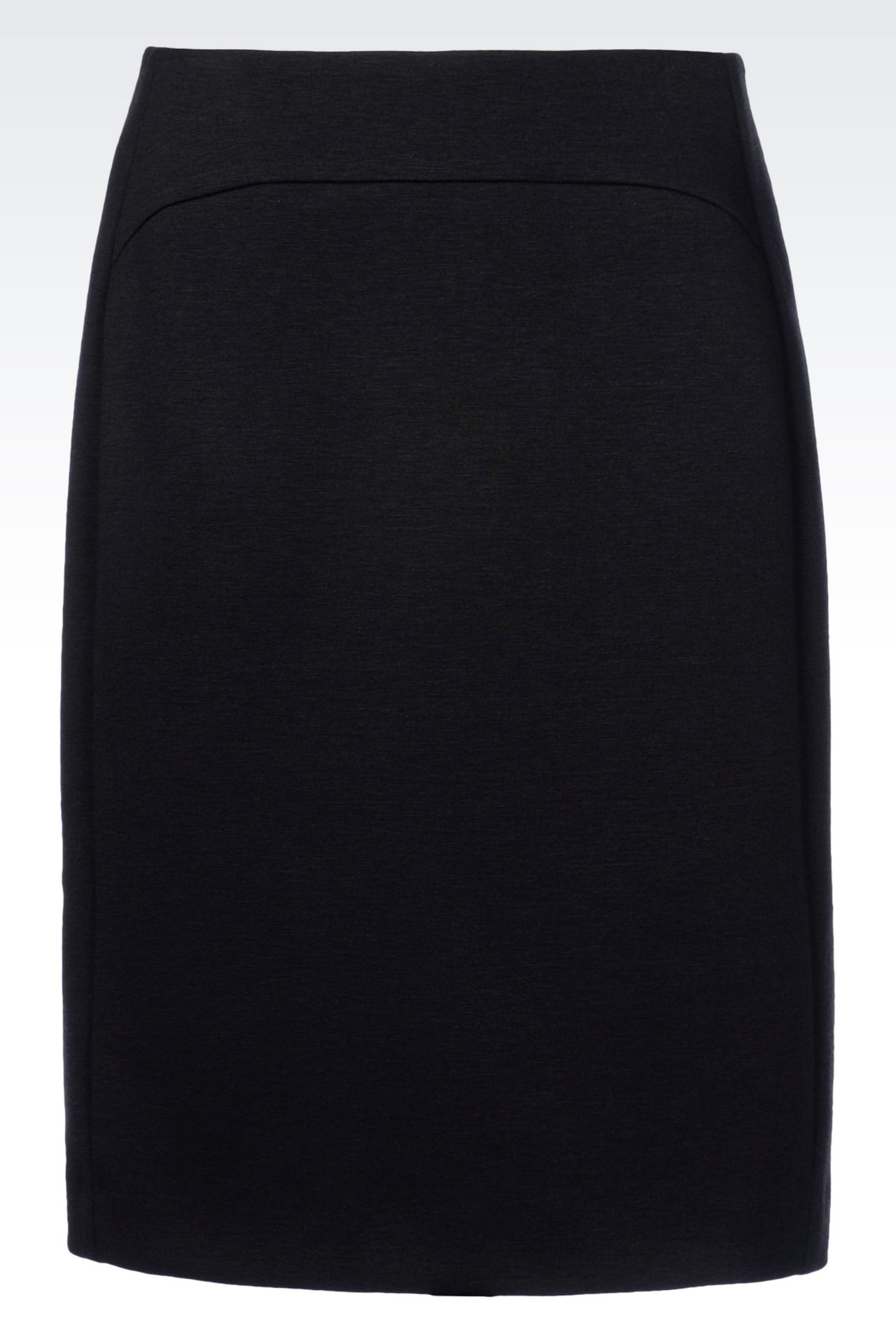 PENCIL SKIRT IN JERSEY: Knee length skirts Women by Armani - 0