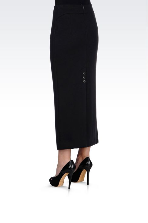LONG JERSEY SKIRT: Long skirts Women by Armani - 4