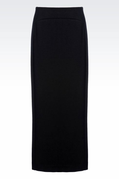 LONG JERSEY SKIRT: Long skirts Women by Armani - 1
