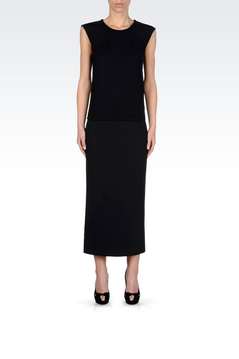 LONG JERSEY SKIRT: Long skirts Women by Armani - 2