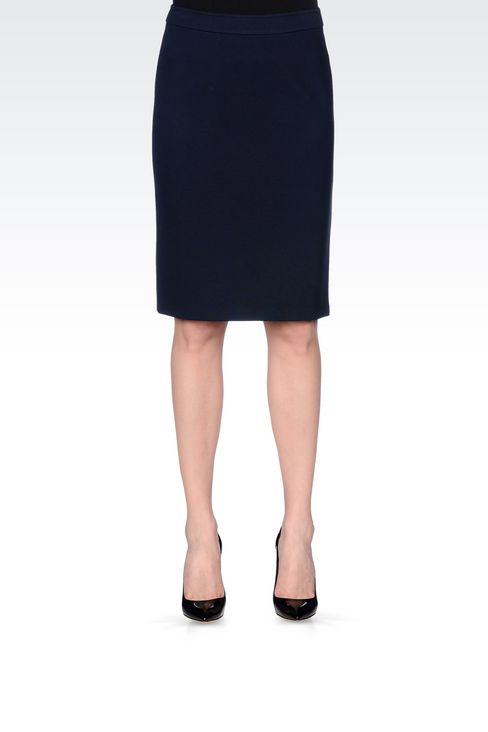 PENCIL SKIRT IN VISCOSE BLEND: Mini skirts Women by Armani - 3