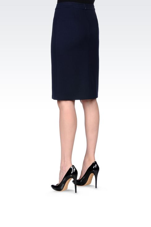 PENCIL SKIRT IN VISCOSE BLEND: Mini skirts Women by Armani - 4