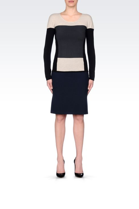 PENCIL SKIRT IN VISCOSE BLEND: Mini skirts Women by Armani - 2