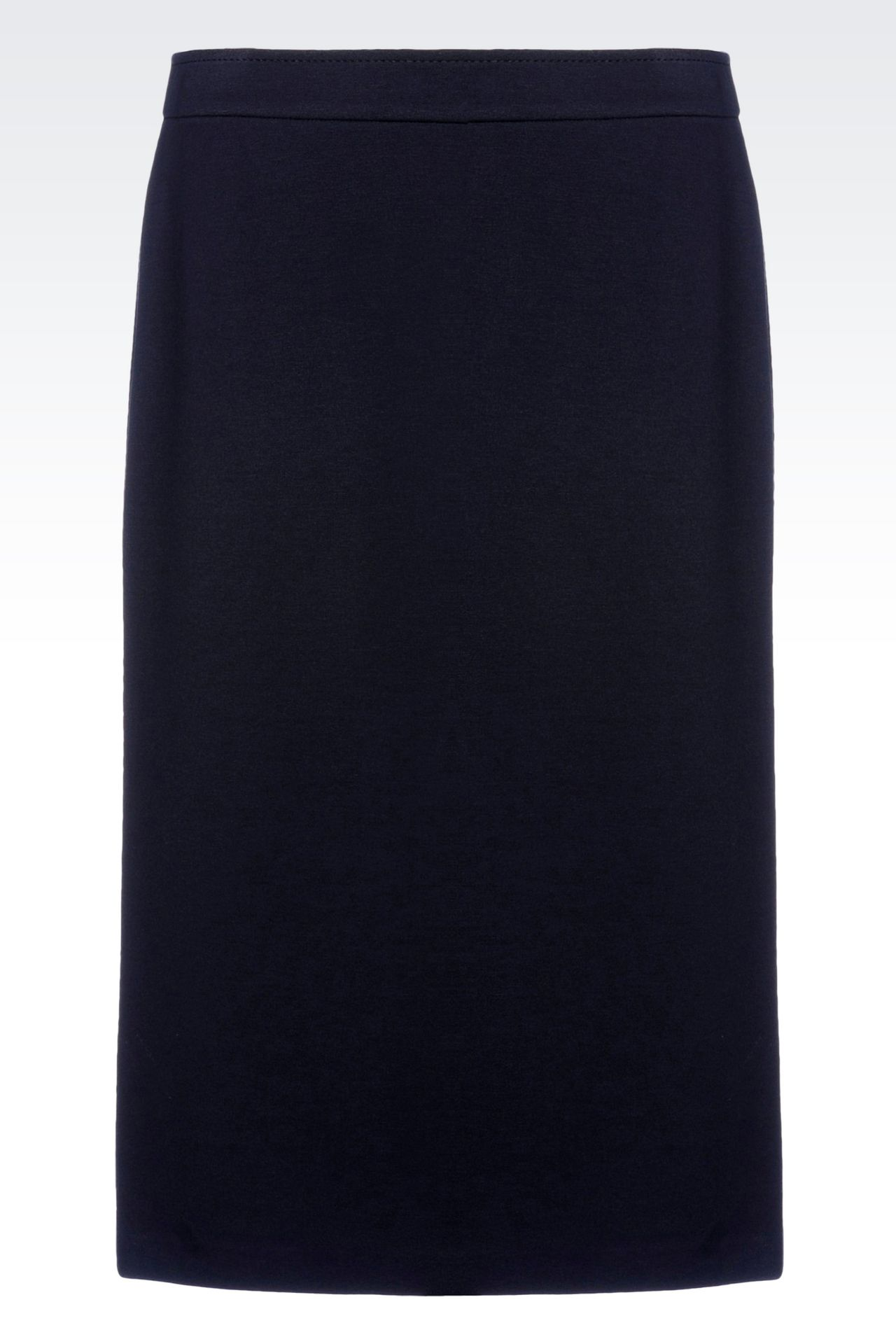 PENCIL SKIRT IN VISCOSE BLEND: Mini skirts Women by Armani - 0