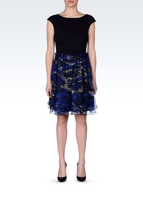 SKIRT IN PRINTED ORGANZA: Mini skirts Women by Armani - 2