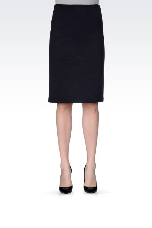 PENCIL SKIRT IN CRÊPE: Knee length skirts Women by Armani - 3