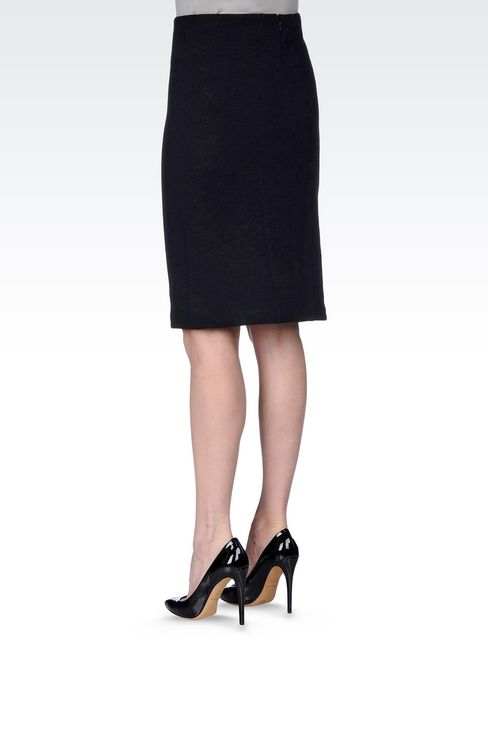 PENCIL SKIRT IN CRÊPE: Knee length skirts Women by Armani - 4