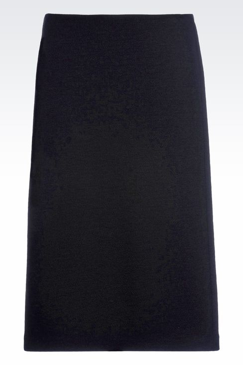 PENCIL SKIRT IN CRÊPE: Knee length skirts Women by Armani - 1