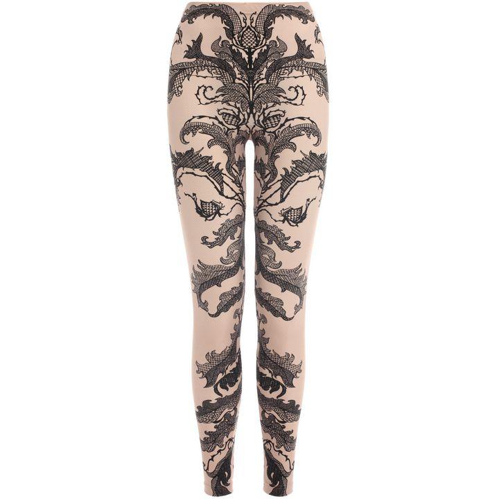 Alexander McQueen, Baroque Lace Print Leggings