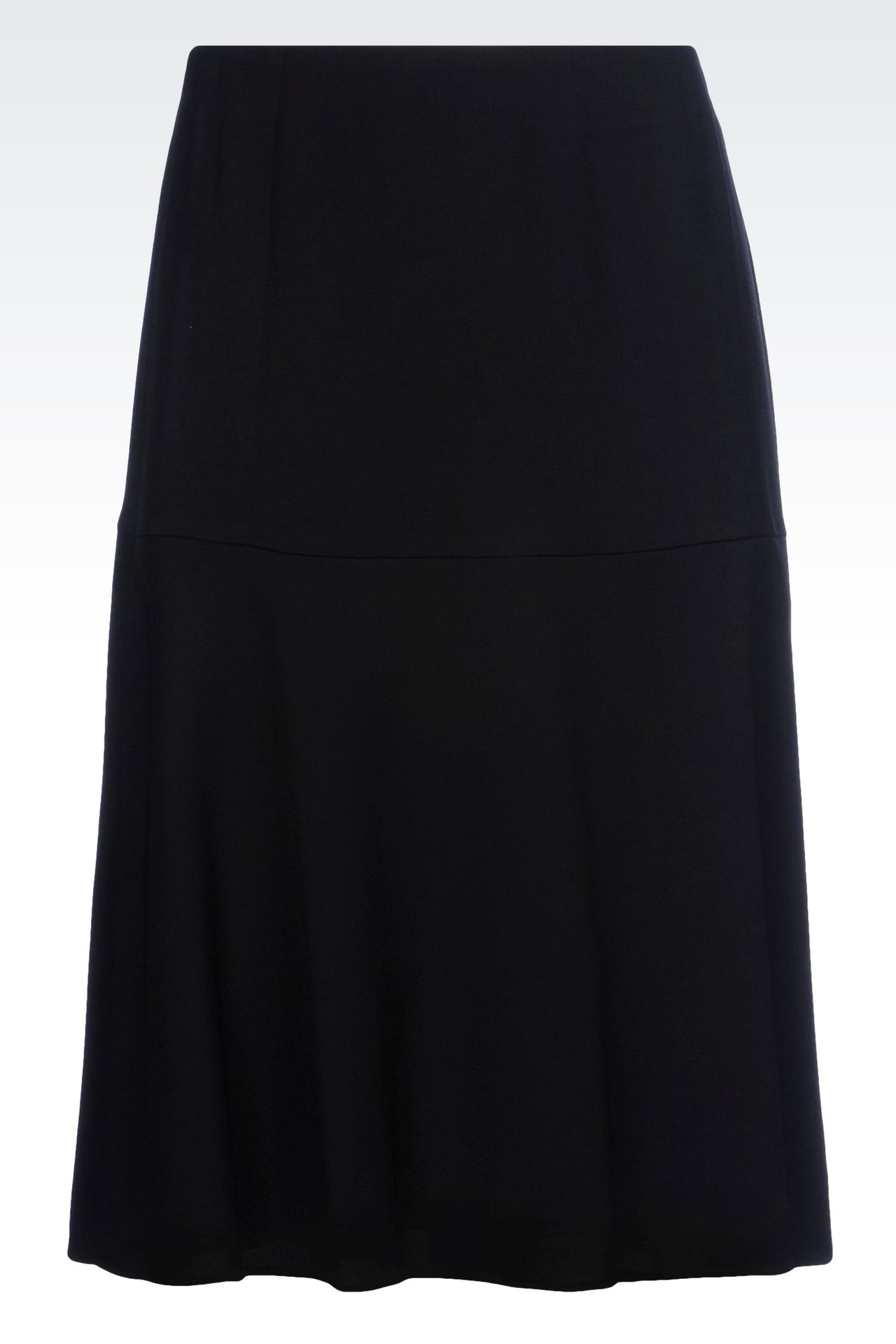 SKIRT IN WOOL AND VISCOSE CRÊPE: Knee length skirts Women by Armani - 0