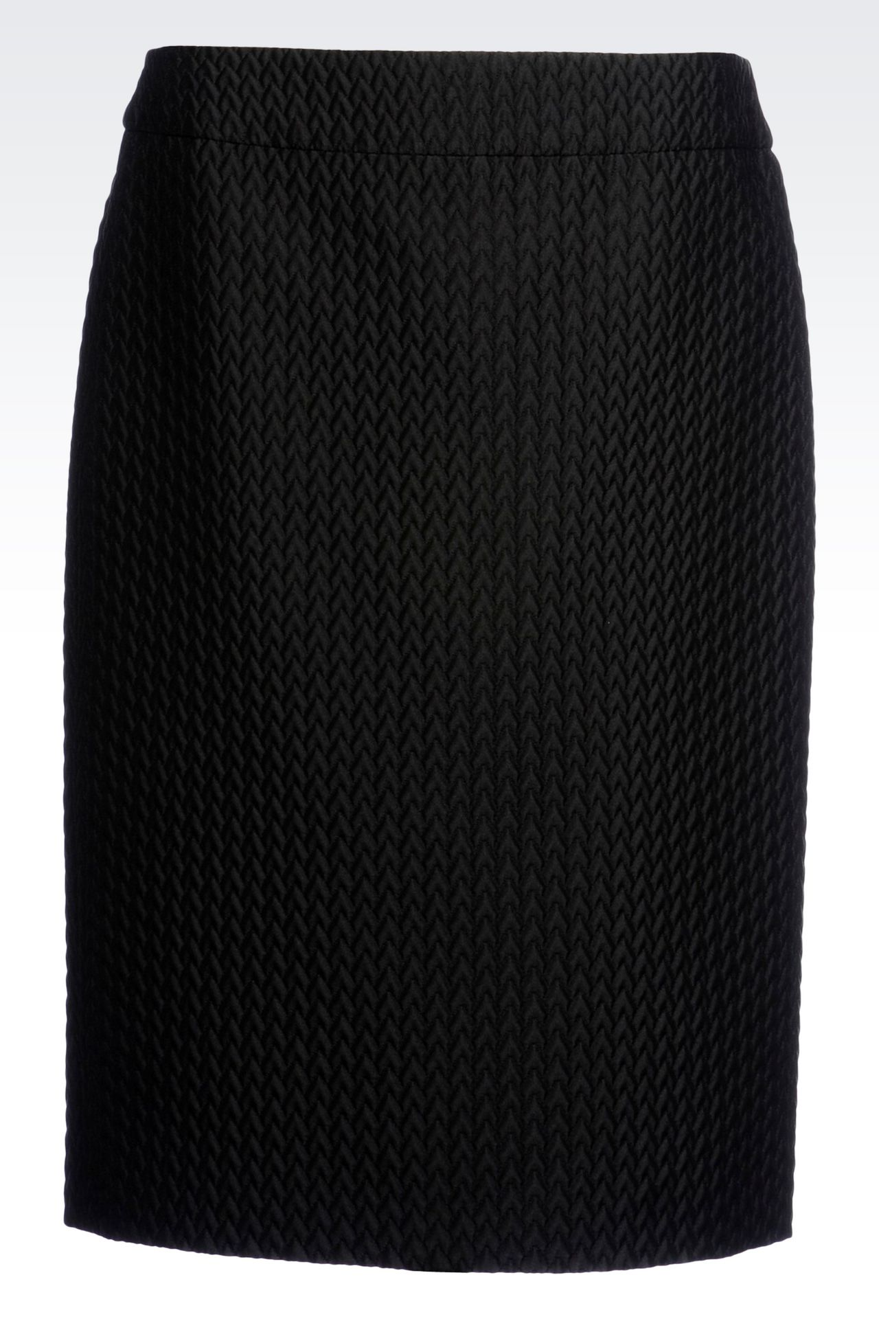 PENCIL SKIRT IN QUILTED JACQUARD: Knee length skirts Women by Armani - 0