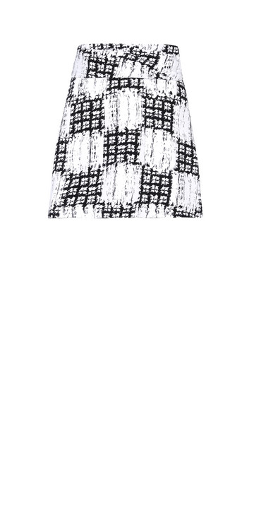 Balenciaga Scribble Check Drapy Skirt