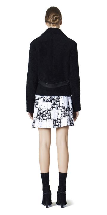 Balenciaga Drapiertes Kleid Scribble Check