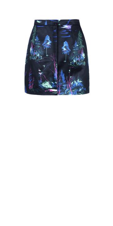 Balenciaga Minirock mit Landschaftsprint