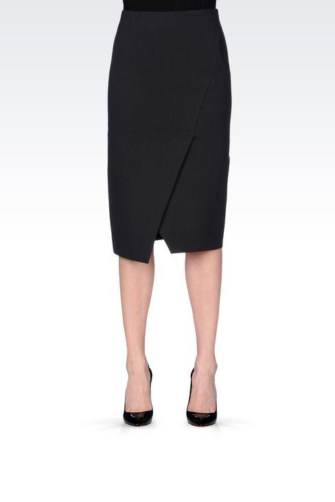 JERSEY SKIRT: 3/4 length skirts Women by Armani - 3