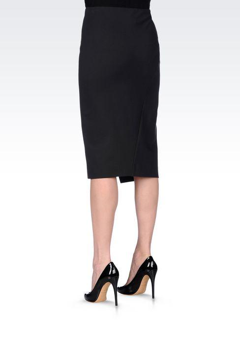 JERSEY SKIRT: 3/4 length skirts Women by Armani - 4