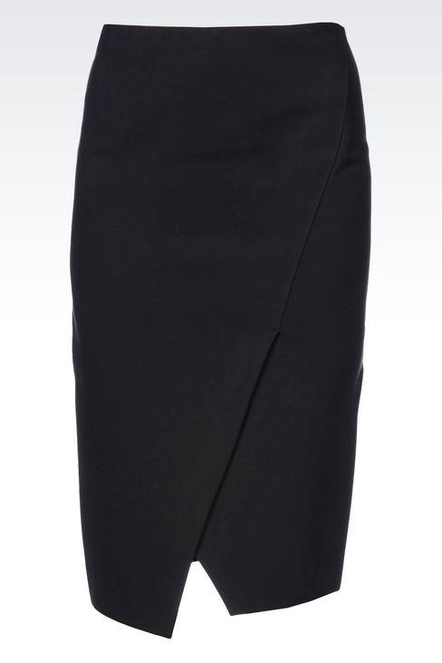 JERSEY SKIRT: 3/4 length skirts Women by Armani - 1