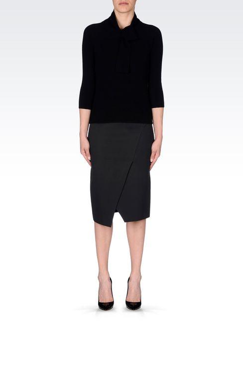 JERSEY SKIRT: 3/4 length skirts Women by Armani - 2
