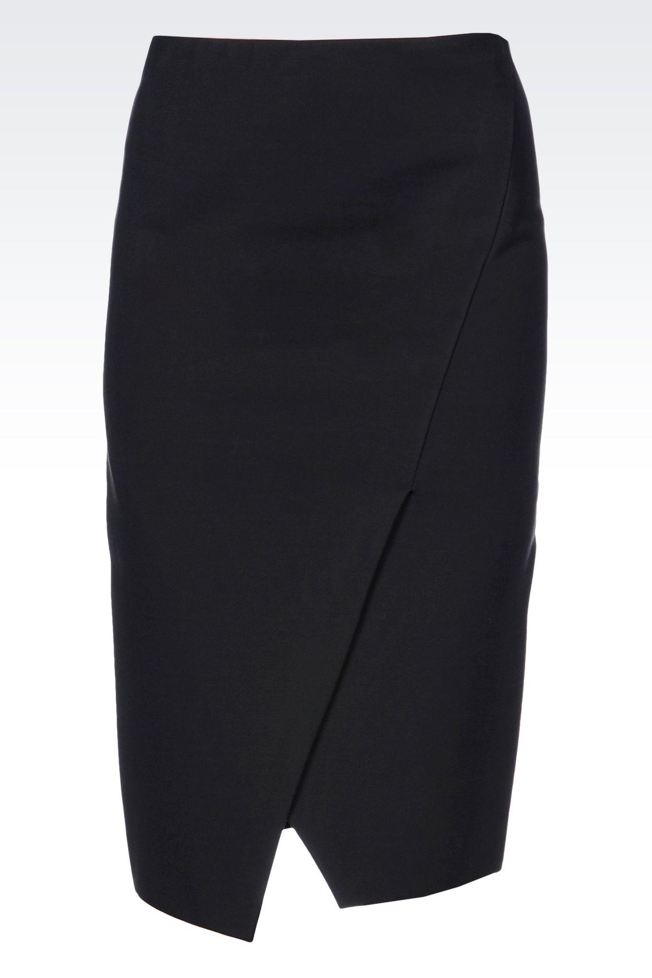 JERSEY SKIRT: 3/4 length skirts Women by Armani - 0