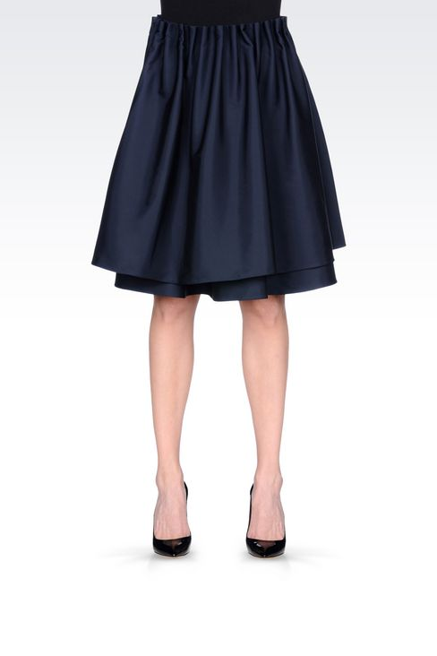 A-LINE SKIRT IN TECHNICAL FABRIC: Knee length skirts Women by Armani - 3