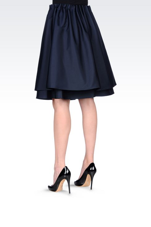 A-LINE SKIRT IN TECHNICAL FABRIC: Knee length skirts Women by Armani - 4