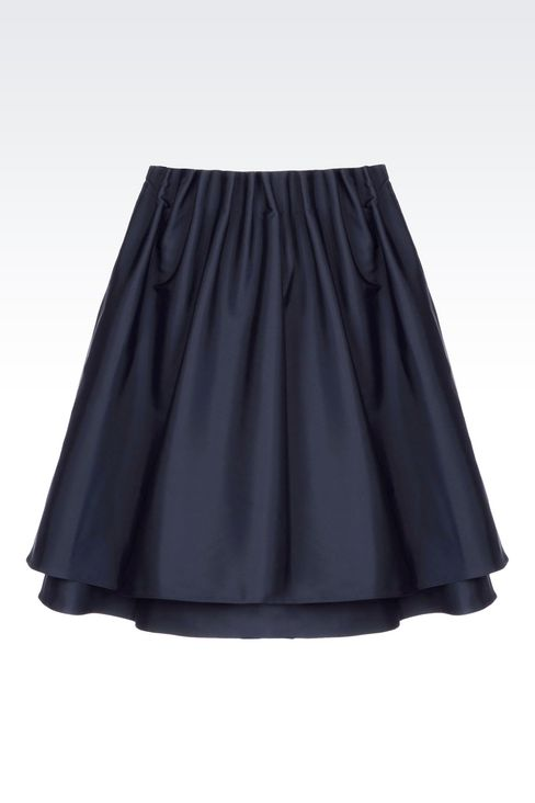 A-LINE SKIRT IN TECHNICAL FABRIC: Knee length skirts Women by Armani - 1