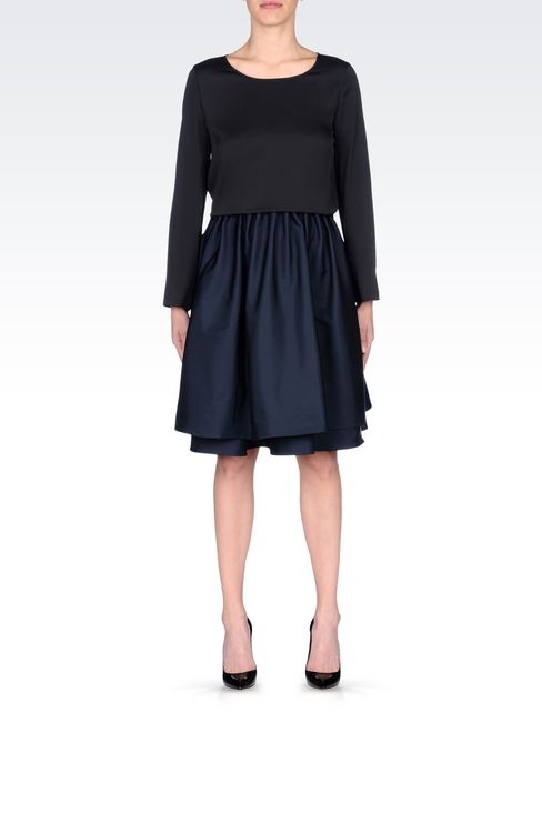 A-LINE SKIRT IN TECHNICAL FABRIC: Knee length skirts Women by Armani - 2