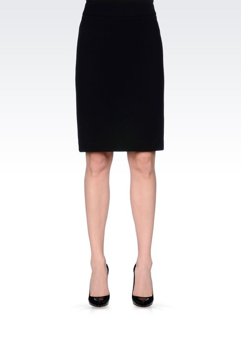 PENCIL SKIRT IN WOOL CRÊPE: Knee length skirts Women by Armani - 3