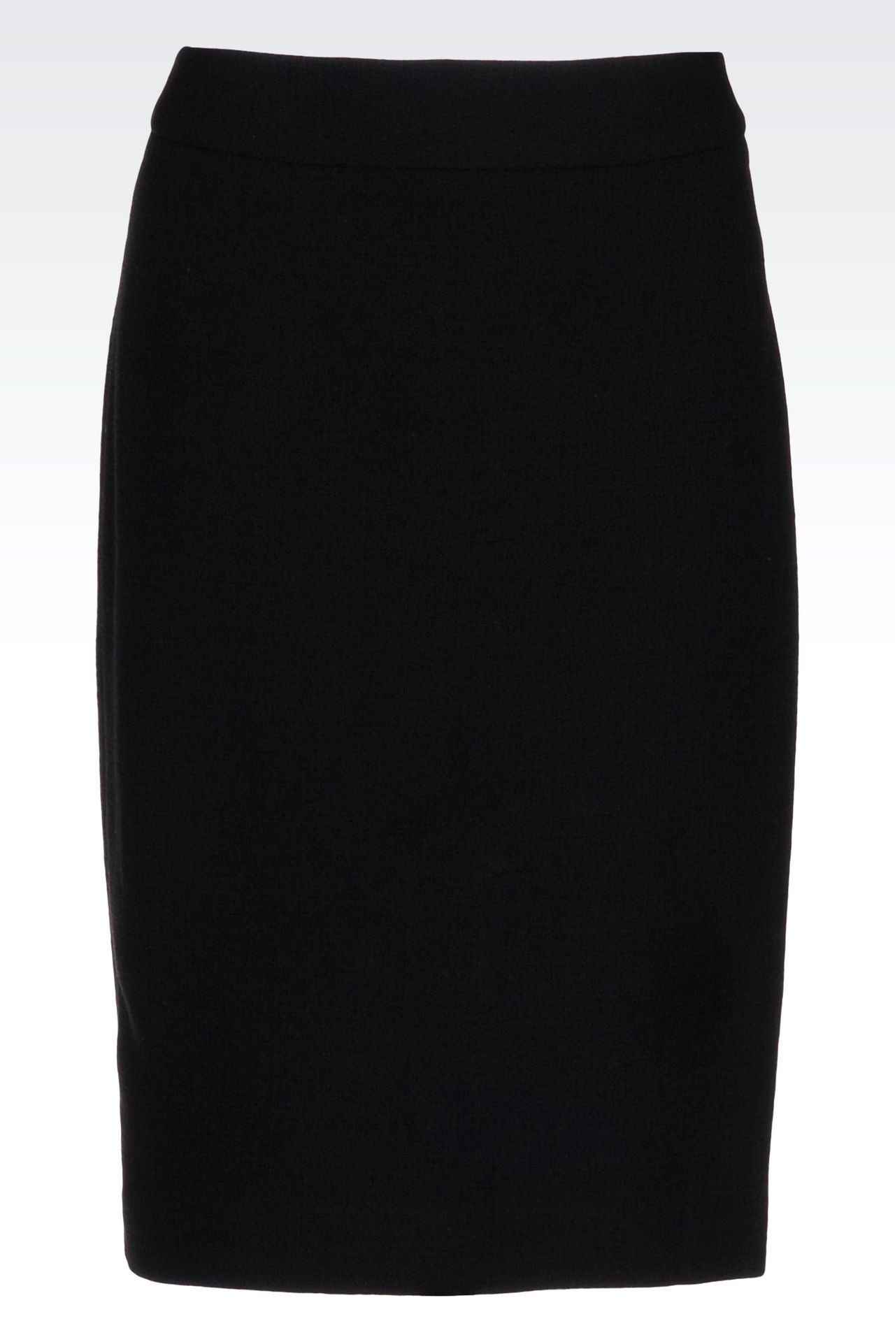 PENCIL SKIRT IN WOOL CRÊPE: Knee length skirts Women by Armani - 0