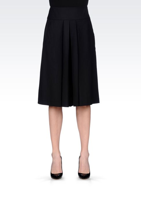 FLANNEL SKIRT: 3/4 length skirts Women by Armani - 3