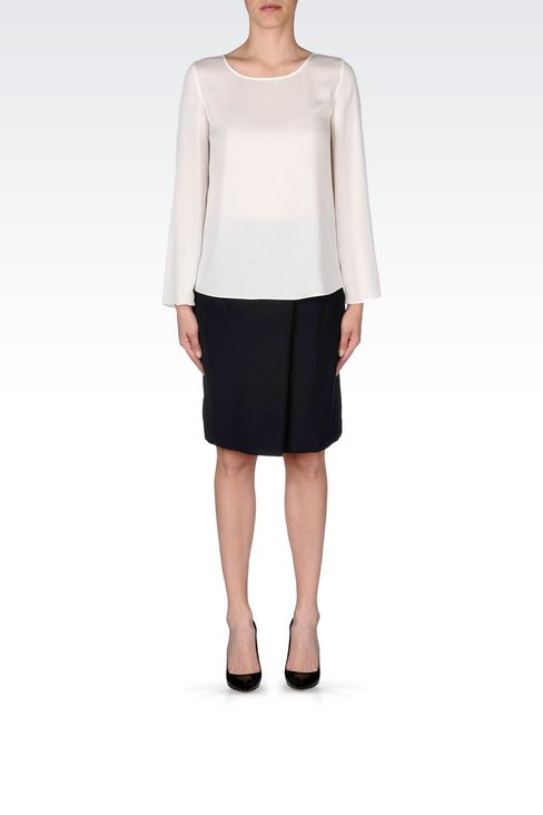 CADY SKIRT: Knee length skirts Women by Armani - 2