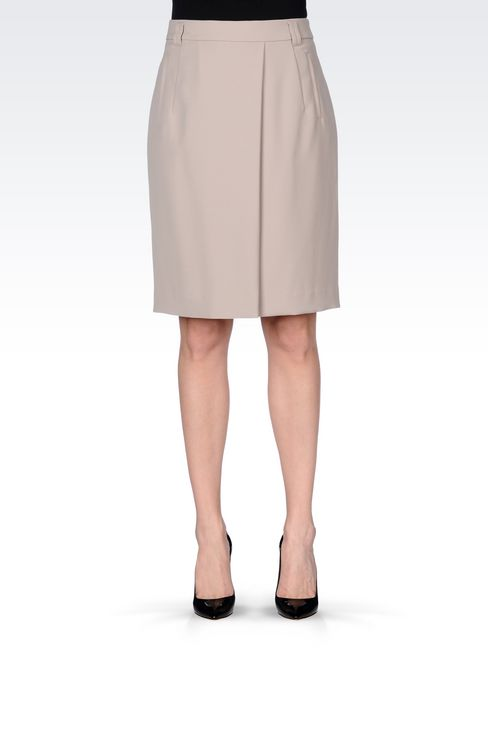 CADY SKIRT: Knee length skirts Women by Armani - 3