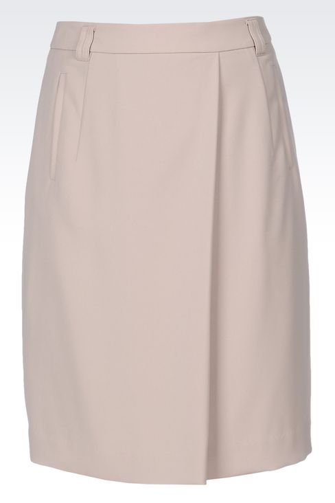 CADY SKIRT: Knee length skirts Women by Armani - 1