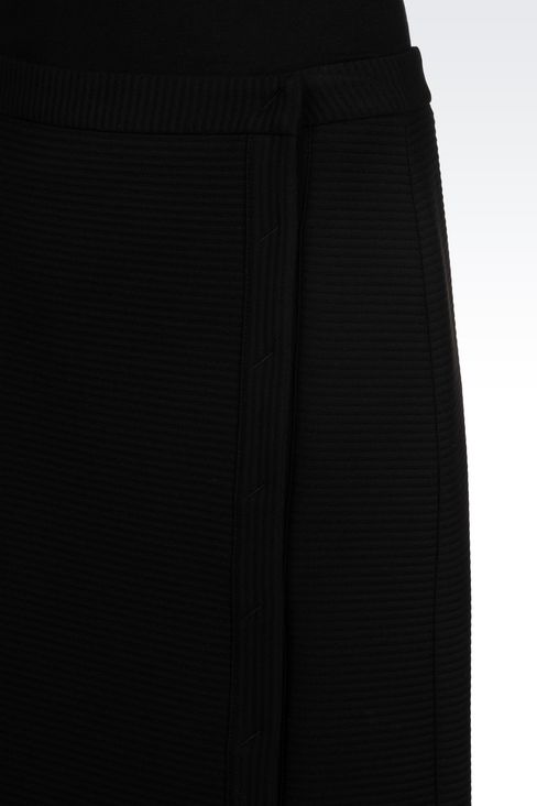SKIRT IN TECHNICAL VISCOSE WITH SPLIT: Knee length skirts Women by Armani - 5