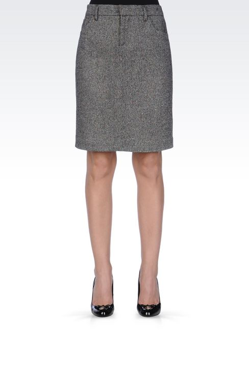 PENCIL SKIRT IN WOOL: Knee length skirts Women by Armani - 3