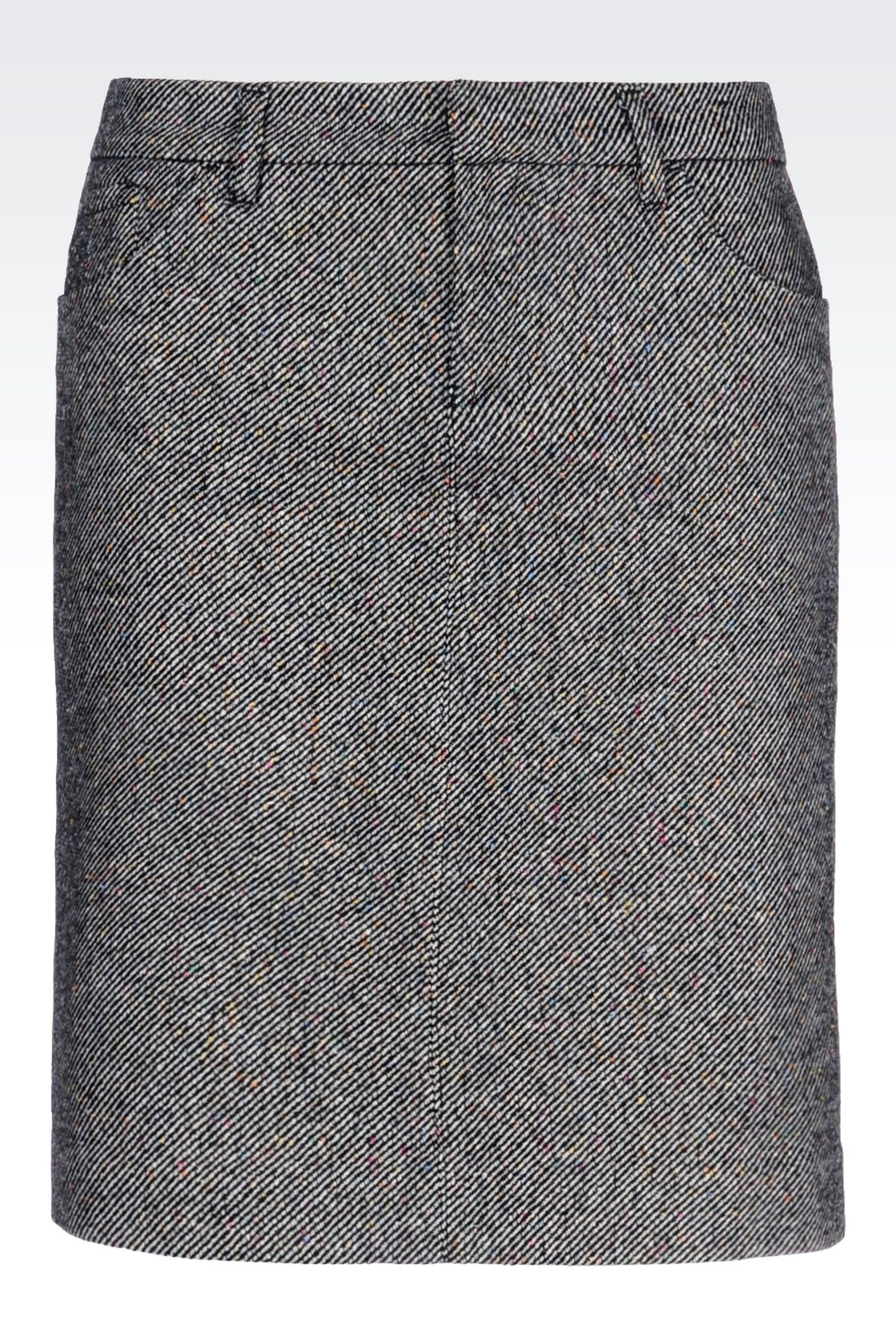 PENCIL SKIRT IN WOOL: Knee length skirts Women by Armani - 0