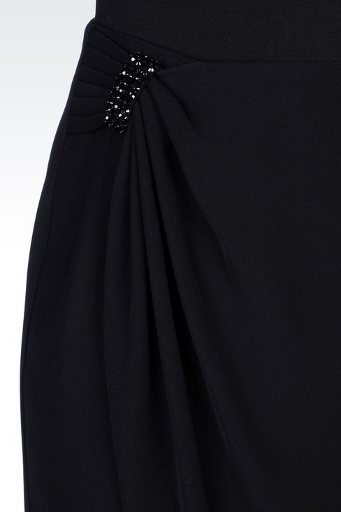 WRAPAROUND SKIRT IN CADY: Knee length skirts Women by Armani - 5