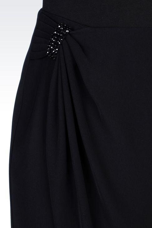 WRAPAROUND SKIRT IN CADY: Knee length skirts Women by Armani - 5