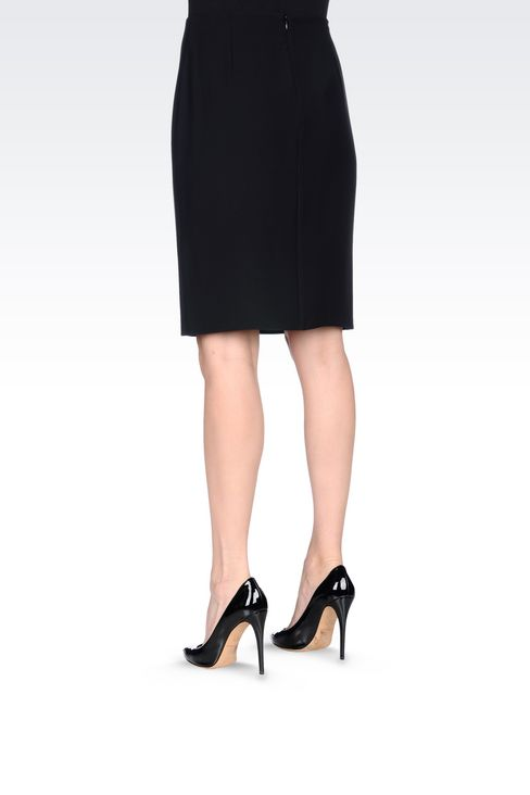 WRAPAROUND SKIRT IN CADY: Knee length skirts Women by Armani - 4
