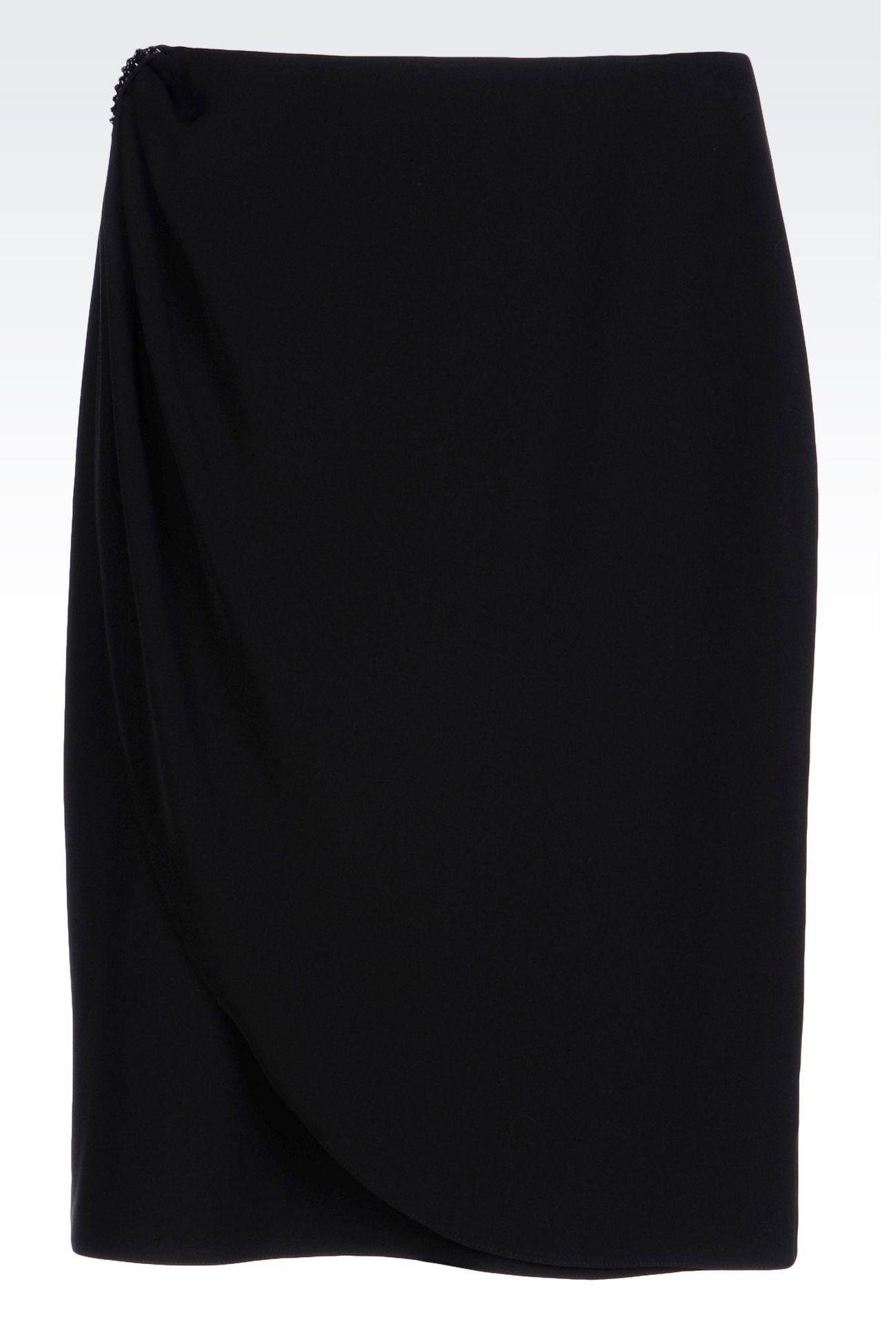 WRAPAROUND SKIRT IN CADY: Knee length skirts Women by Armani - 0